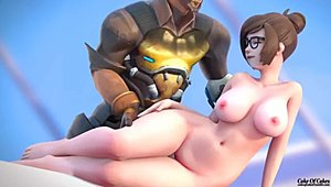 Overwatch Mei and McCree fuck (6 mins)