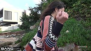Twat lips out-of-doors and cocklickingPussy lips outdoor and blowjob XXX Porn